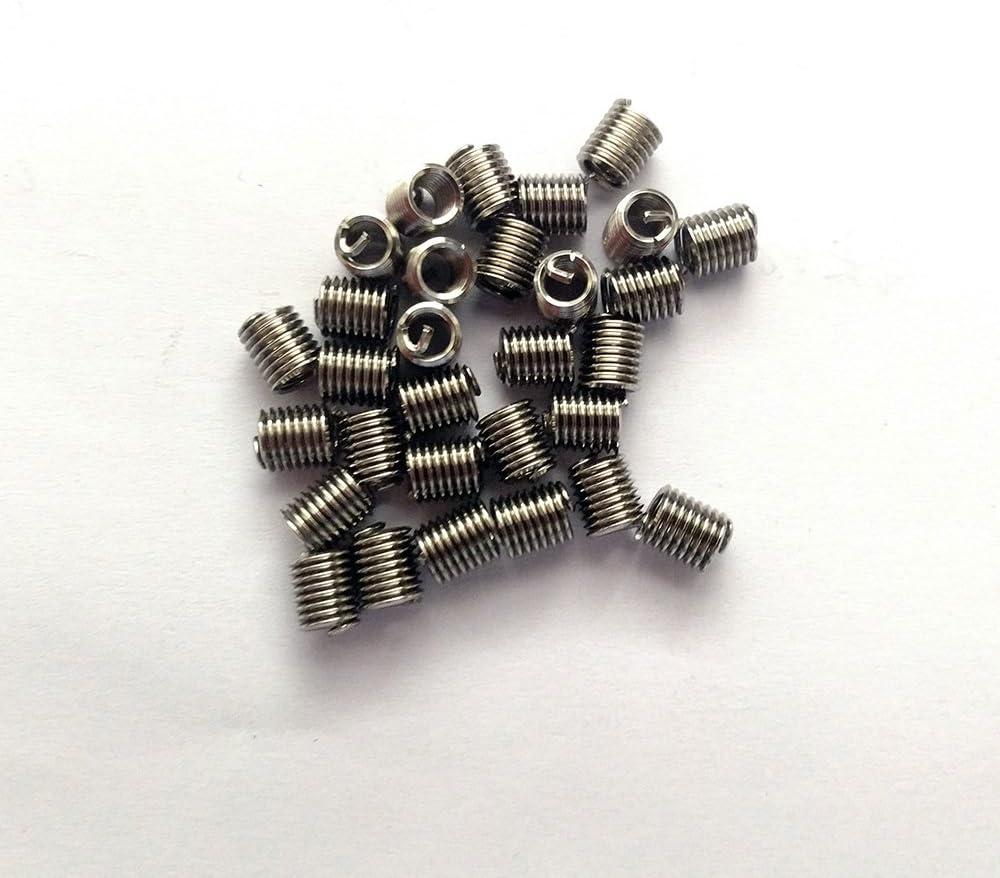 Fullerkreg UNC #8-32X2D Wire Thread Inserts,304 Stainless Steel 30 Pcs