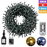 Christmas String Lights 108FT 300LEDS Indoor Outdoor Christmas LightTree Lights Waterproof 8 Modes Dimmable Decorative Twinkle Fairy Lights with UL Certified for Christmas Tree, Patio, Party