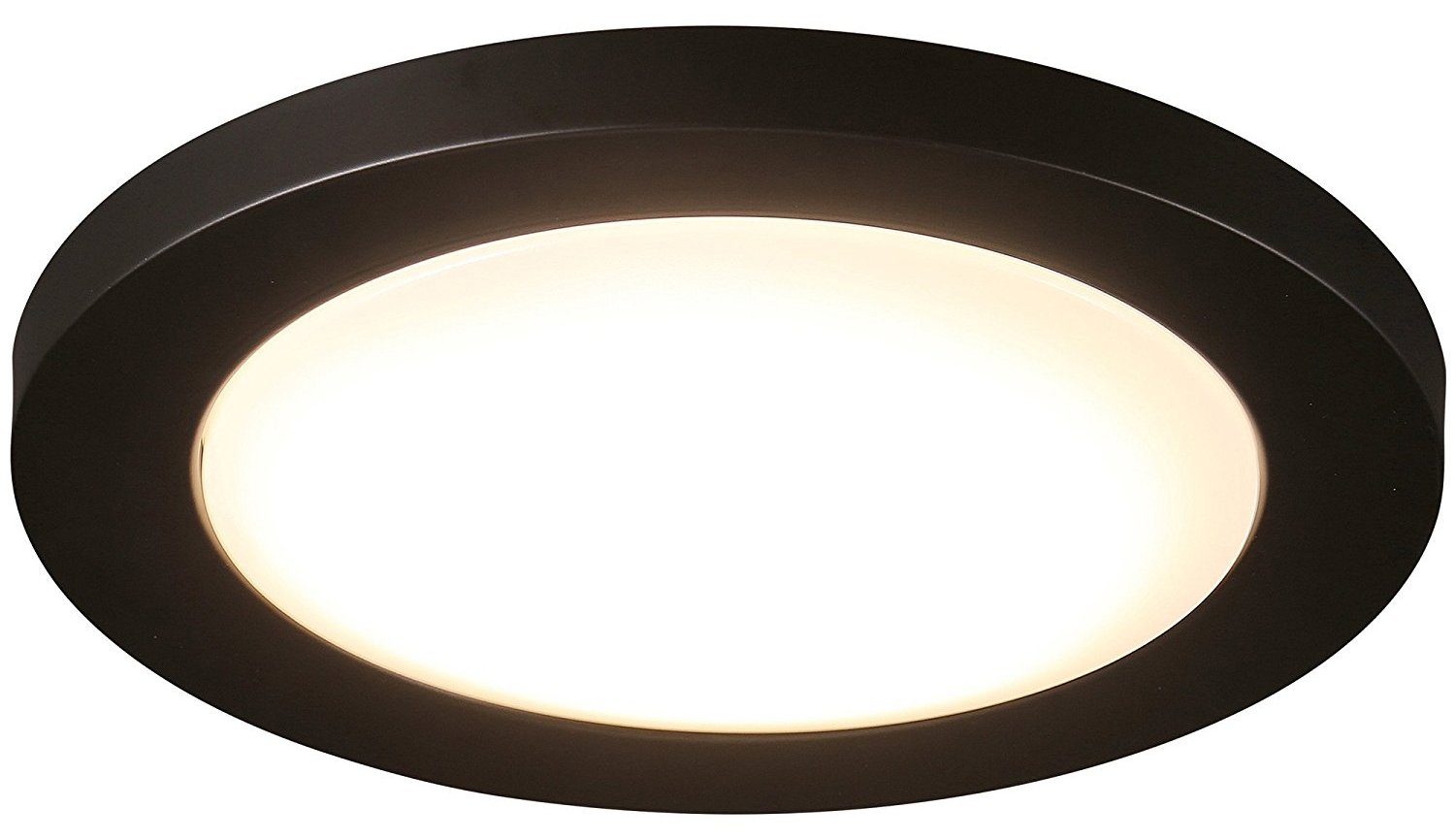 Cloudy Bay 12 inch LED Flush Mount Ceiling Light 4000K Cool White Dimmable 17W 1100lm -120W Incandescent Equivalent,Oil Rubbed Bronze Finished