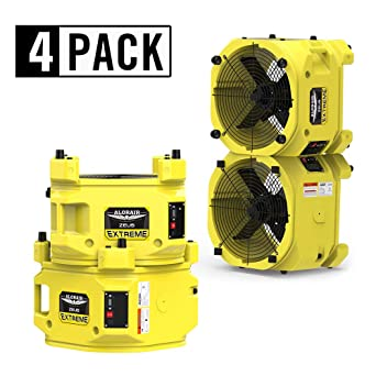 BlueDri 1//4 HP Water Damage Restoration Axial Air Mover Blower Fan 5 Pack