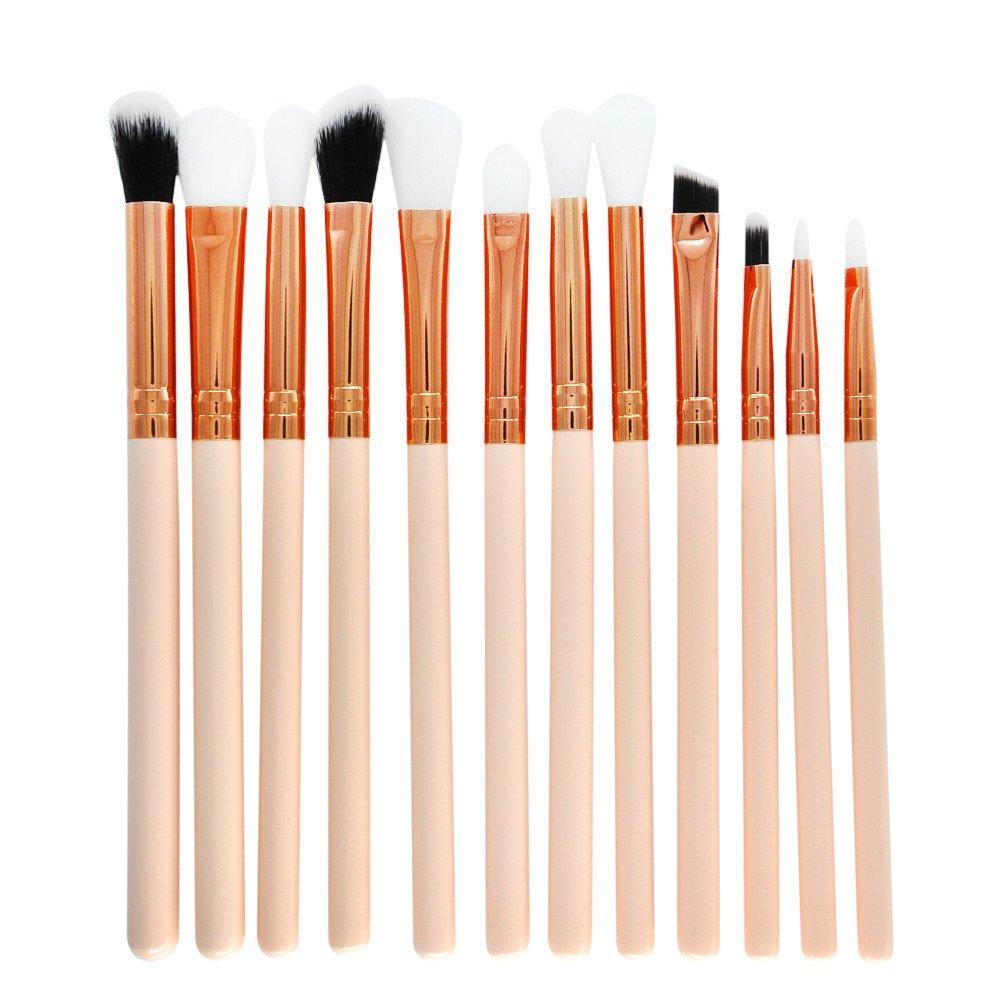 12Pcs Set Berufsbürstensatz Elegant Augen und Marmor Wangen Make-up Pinsel (B) TPulling