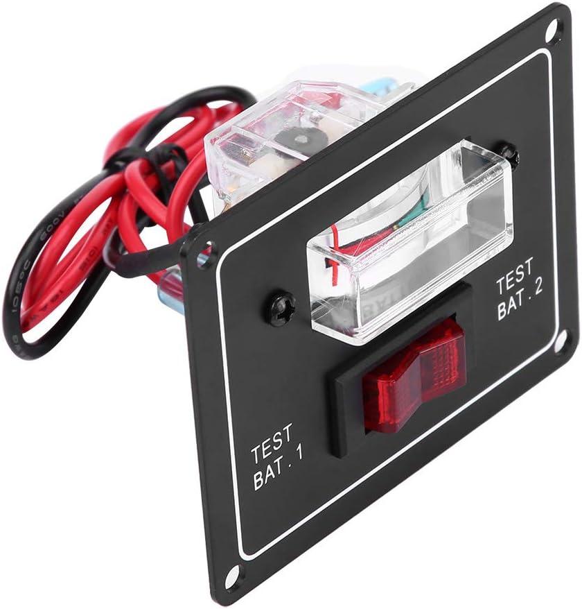 Voltm/ètre de bateau interrupteur de test de batterie voltm/ètre 12 volts double testeur//jauge pour caravane marine de bateau