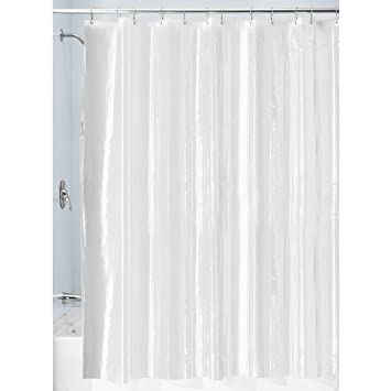 Curtains Ideas cheap shower curtain liners : InterDesign Mildew-Resistant Vinyl 4.8-Gauge Shower Curtain Liner ...