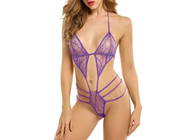 Image Unavailable. Image not available for. Color  Bodysuit Women Sexy  Lingerie Erotic Underwear Sexy Lace up ... 09a8dbe9a