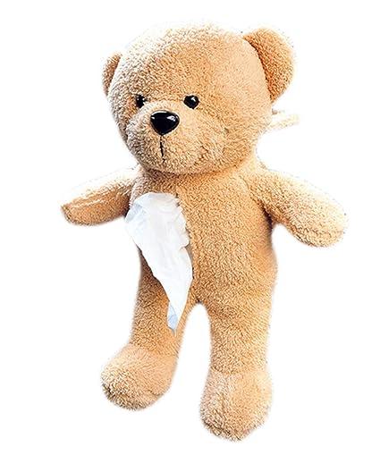 wicemoon caja de pañuelos soporte con peluche de juguete oso coche asiento trasero para colgar papel