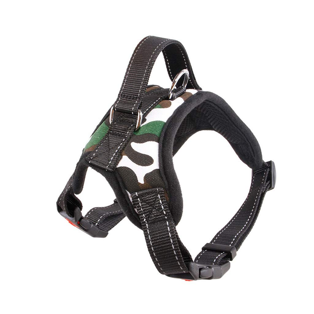 Camouflage S Camouflage S Dog Harness Pet Harness Adjustable Outdoor Pet Vest Oxford Material Vest for Dogs Easy Control for Small Medium Large Dogs (color   Camouflage, Size   S)