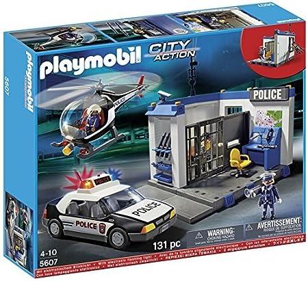 Playmobil - City Action Poste de Police (5607): Amazon.es ...