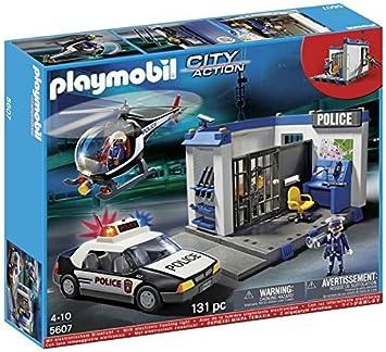 City 5607 Action Et Police Poste Hélicoptère Playmobil 310011 kX80OnwP