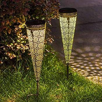 Amazon Com Maggift 8 Pcs Solar Powered Led Garden Lights