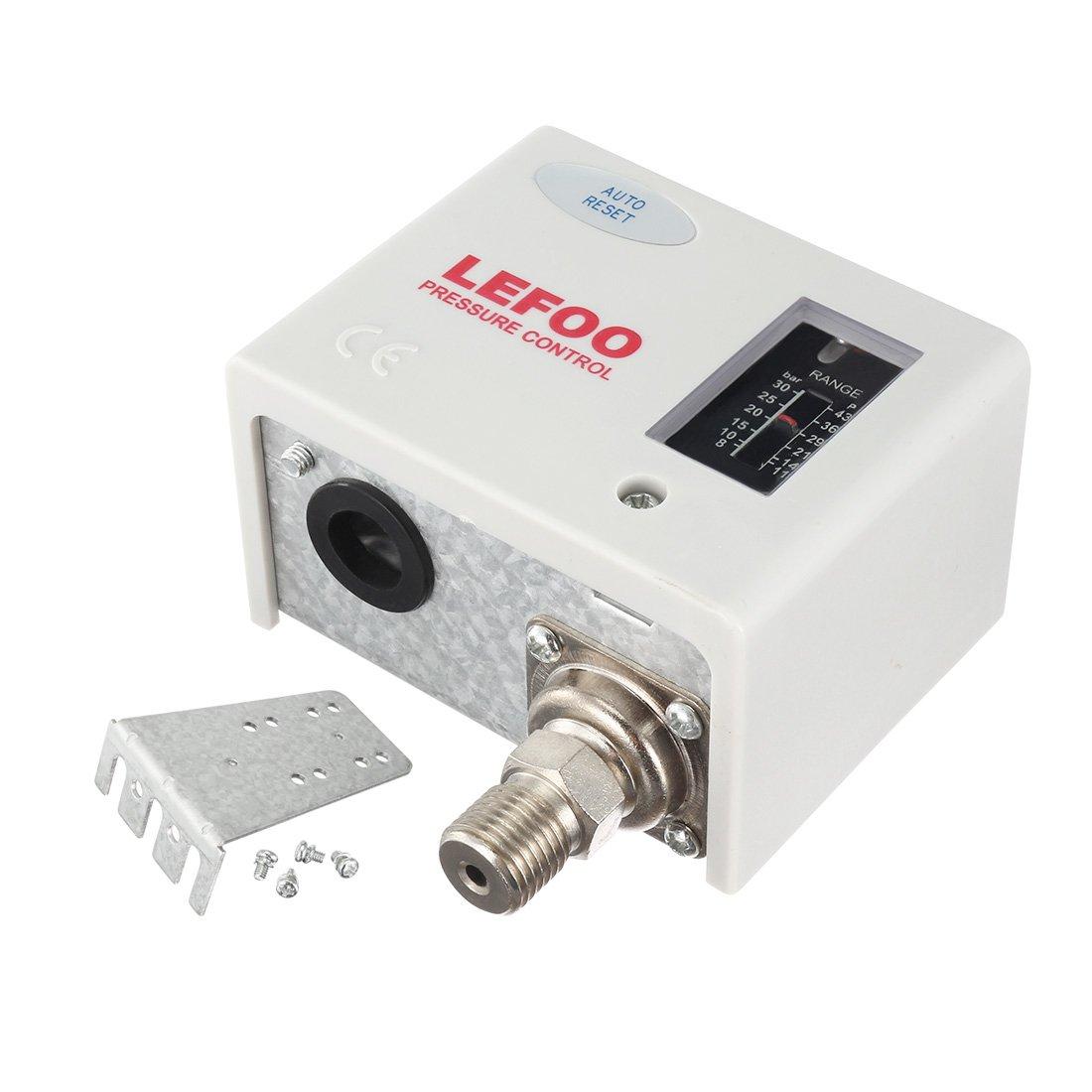 sourcing map Interruptor de control de presió n del compresor de aire SPDT LF5530 Rosca M12 8-30Bar a17061300ux0154