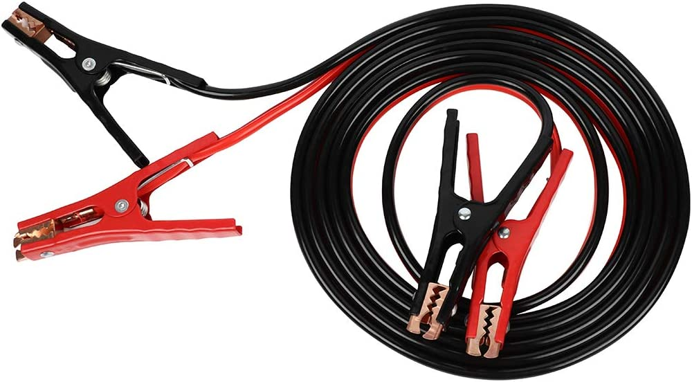 TUPARTS Jumper Cables Heavy Duty 16 Ft 6 Gauge with Quick Connect Plugs Travel Bag for Truck SUV Car