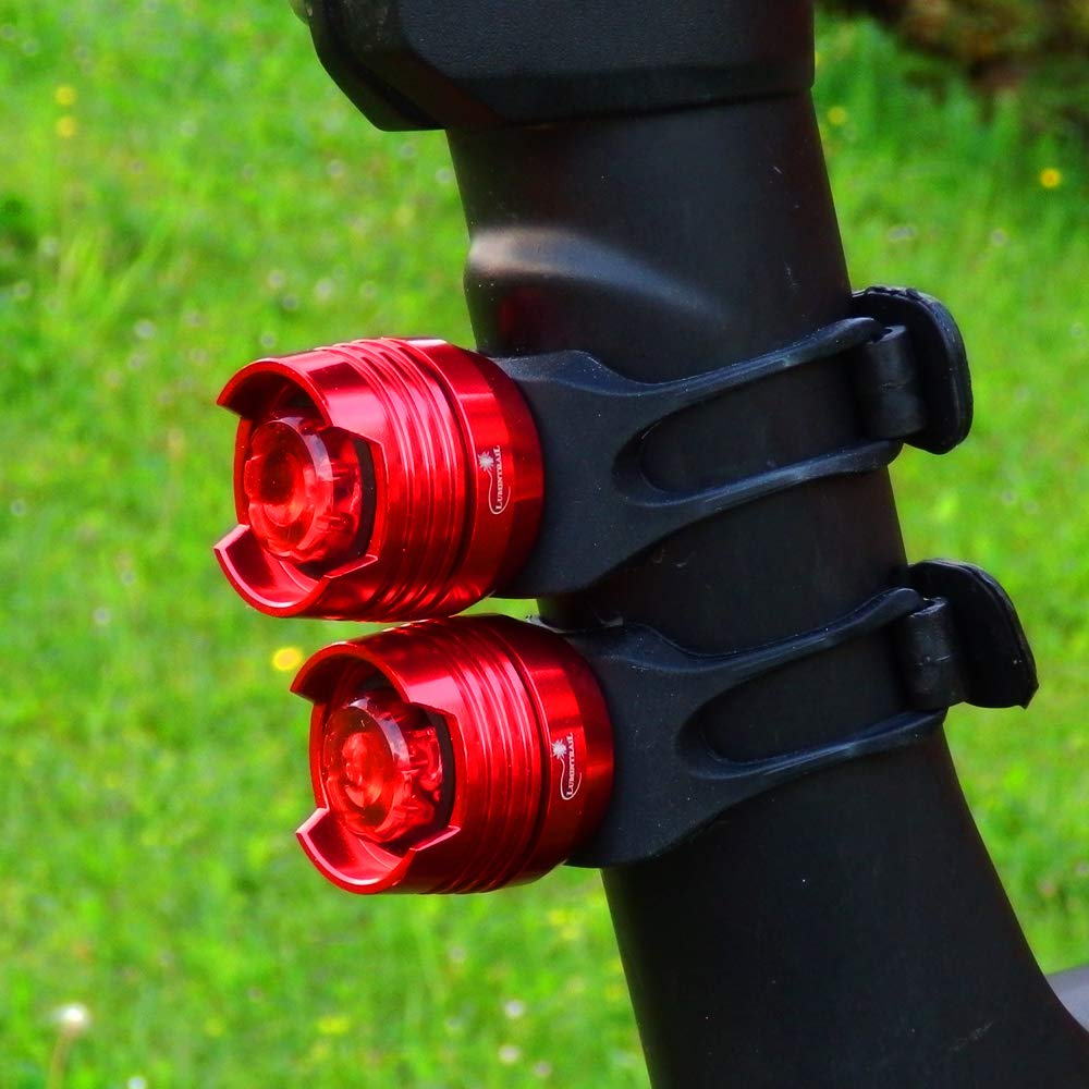 Waterproof LED Bike Tail Light Red Set Rear Safety Bicycle Taillight Batteries Included