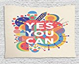 yes we can poster - Ambesonne Quotes Decor Collection,
