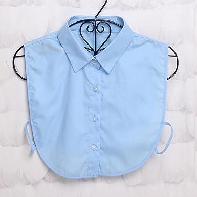 Lunji falso cuello mujer desmontables encaje collar camisa Pull ropa accesorio c Talla única: Amazon.es: Ropa y accesorios