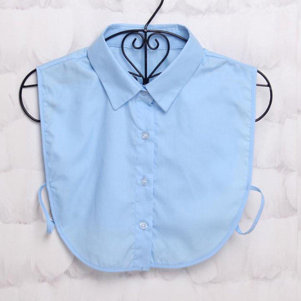 LLLucky Shirt Fake Collar Top Fake Collar Tie Blouse Detachable Collar False Collar Lapel Blue A