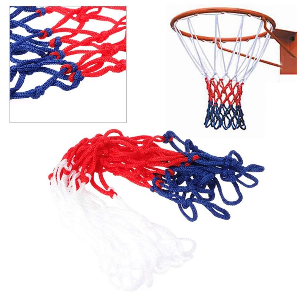 L-DiscountStore Red de Baloncesto Reemplazo de Nylon Trenzado de Baloncesto Aro Neto para Deportes al Aire Libre o en Interiores