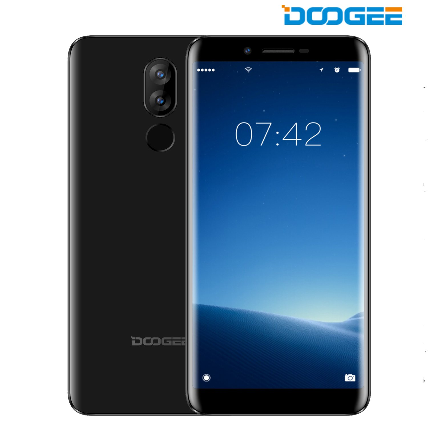 DOOGEE X60L 4G Unlocked Cell Phone Android - 5.5'' Screen - 16GB ROM + 128GB Expandable Storage - 13MP + 8MP Dual-Lens Camera - 3300mAh Battery Fingerprint ID Unlocked Dual SIM Smartphone - Black