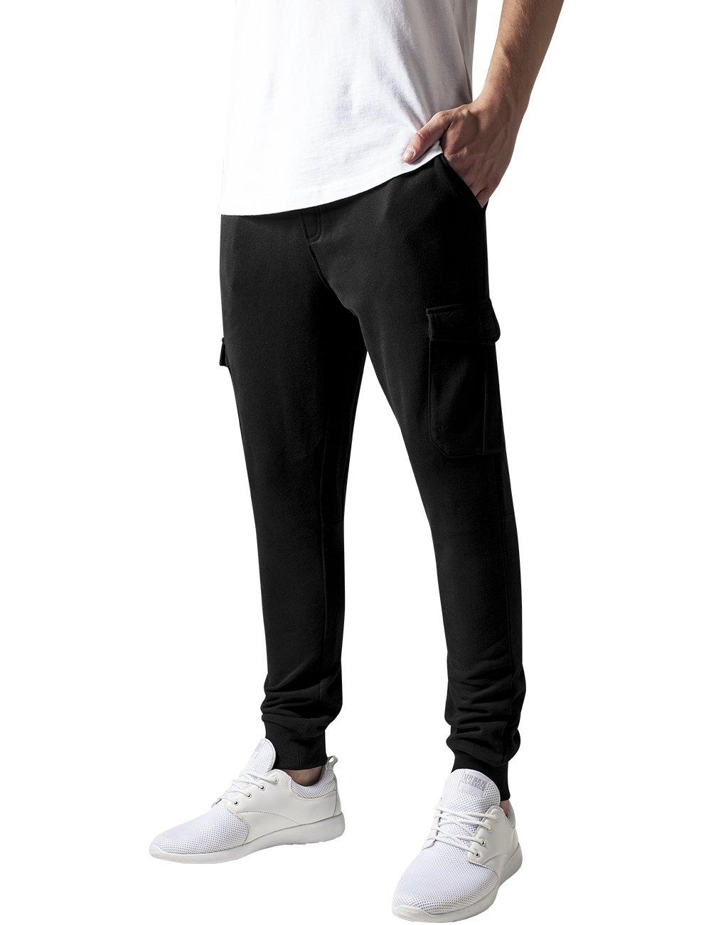 Fitted Cargo Sweatpants, Pantalones para Hombre, Negro (Black), 32W x 32L (Talla del Fabricante: Medium) Urban Classics