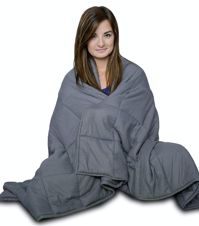 CuddleBug Therapiedecke Gewichtsdecke - Schwere Decke für Erwachsene Jugendliche Für Besseren Schlaf, Größe  122 x 183 cm, 7 kg