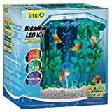 Tetra, Kit de pecera hexagonal con burbujeador LED, 1 Galon