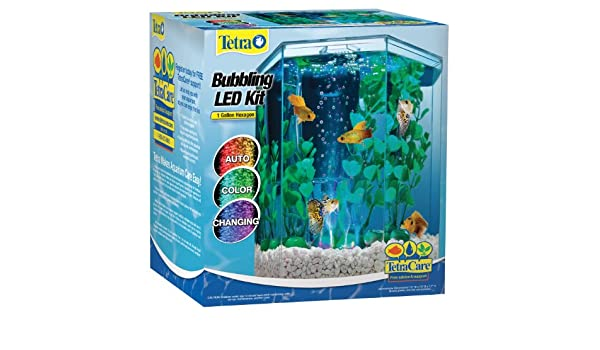 Tetra 29040 Hexagonal Acuario Kit con LED Bubbler, para hormigón: Amazon.es: Productos para mascotas
