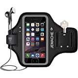 iPhone 6 7 8 SE Armband, JEMACHE Fingerprint Touch Supported Gym Running Workout/Exercise Arm Band Case for iPhone 6/6S…