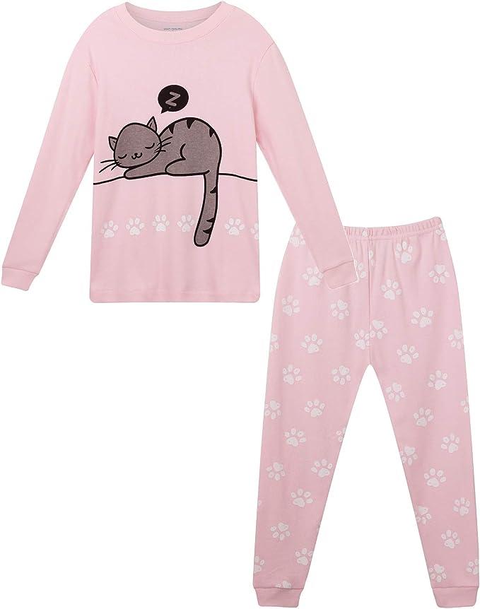 Cozy Feeling Kid and Toddler Girls Short Sleeve Cotton Pajamas set