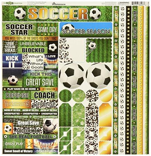 Reminisce TSOC-100 Soccer Cardstock Sticker, 12