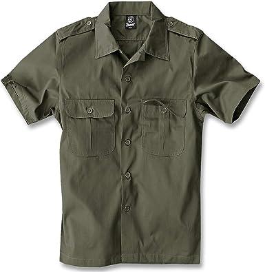 Brandit Us Hemd Kurzarm Camisa para Hombre: Amazon.es: Ropa y accesorios