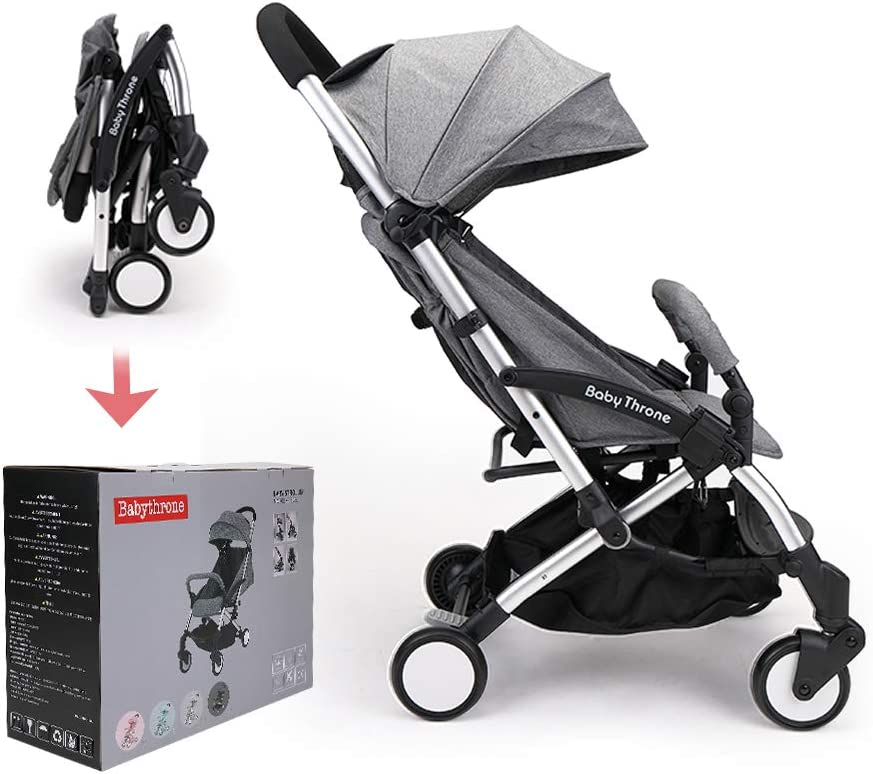 Passeggino Leggero Babythrone Pieghevole Passeggini Compatto da Viaggio fino a 25 kg...