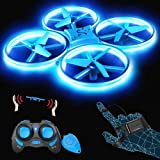 SNAPTAIN SP300 Mini Drone, Hand Operated RC Quadcopter w/Throw'N Go, Multiple Remote Controls, G-Sensor Mode, 3D Flips, Altit