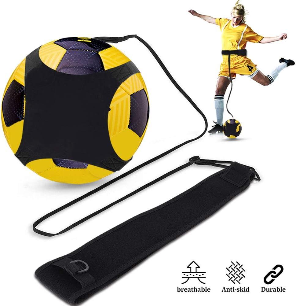 DOACT Soccer Trainer, Ayuda Individual de Entrenamiento de Fútbol Manos Libres con Ajustable Cinturón, Aid Control Skills Soccer Practice Entrenamiento para Niños Principiantes Kick Off Trainer
