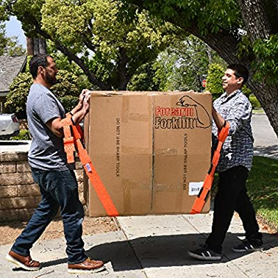 Forearm Forklift Extended Length 4-Loop, Lifting and Moving Straps for Furniture, Appliances, Mattresses or Heavy Objects up to 1000 Pounds, 2-Person, Orange/Black, Model FFBEM: Home Improvement