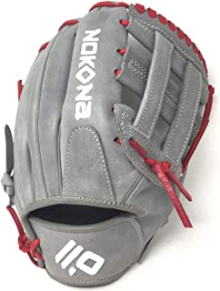 product image for Nokona American Kip 11.5 H Web Baseball Glove Red Laces Right Hand Throw