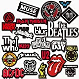 PickTheGuitar Stickers For Rock/Metal Band Logos Electric/Acoustic Guitar/Laptop, etc. (Style 1)