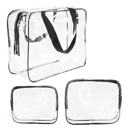 Xelparuca - Bolsa de cosméticos transparente, bolsa de aseo ...