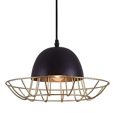 Pendant Lighting, Hhome Plus 1 Light Hanging Pendant Lamp,Hat Shape Metal Ceiling Light,Perfect Light for Dining Room, Kitchen, Living Room, Bedroom, Restaurant, Bar