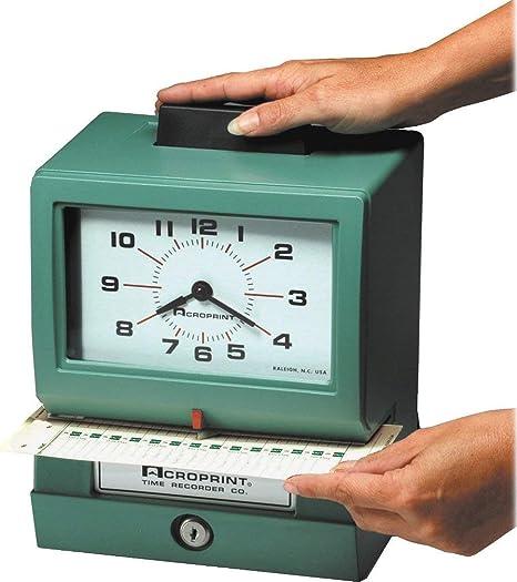 Amazon.com: Acroprint 125NR4 cronómetro manual de ...