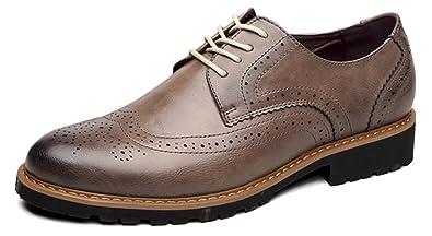 3e0f933c6e74b Fangsto Mens Brogue Oxford Grey Size  6.5 D(M) US  Amazon.co.uk ...