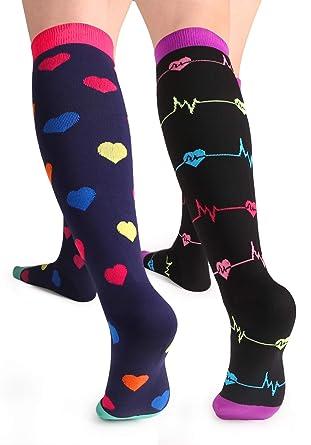 cd3b96f3da Women's Compression Socks Nursing Knee High Compression Stockings for  Nurses, Pregnant Woman, Travel,