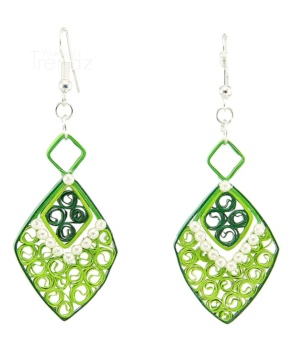 Womens Trendz Handcrafted Paper Quilling Fashion Jewellery Set for Women and Girls