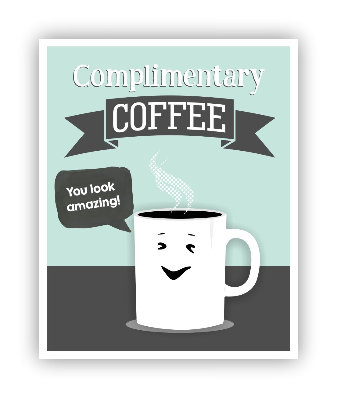 funny office poster. Amazon.com: Complimentary Coffee Poster, Office Art, Puns, Funny Pun 11 X 14 Poster: Handmade Poster -