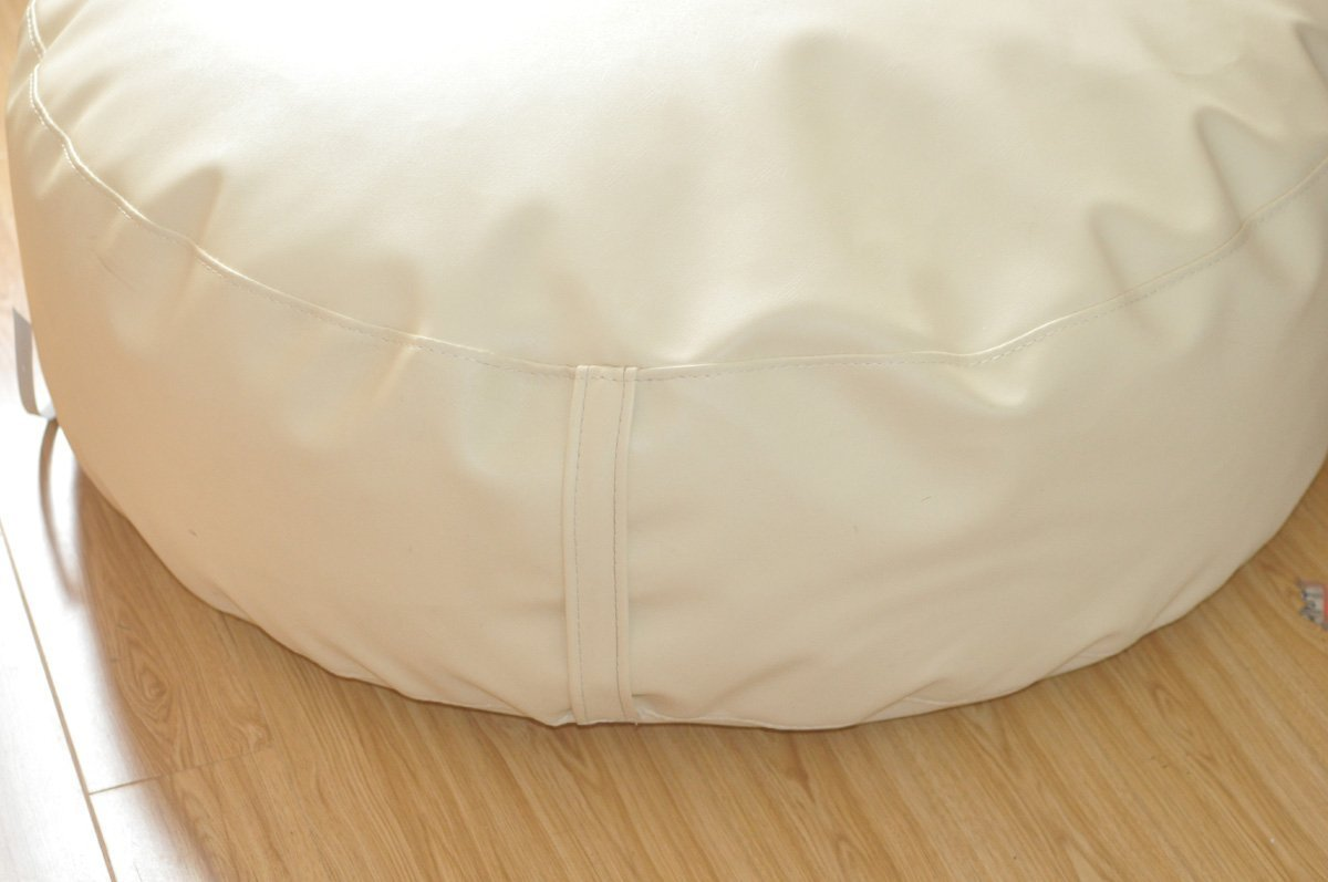 Round White Newborn Posing Bean Bag 80X40 Photo Prop by backdropday
