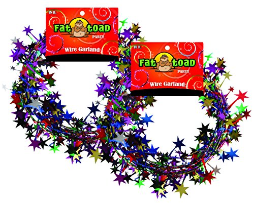 Garland Stars Multi-Color 18 Foot 2 Pack, Fat Toad Multi Color Garland