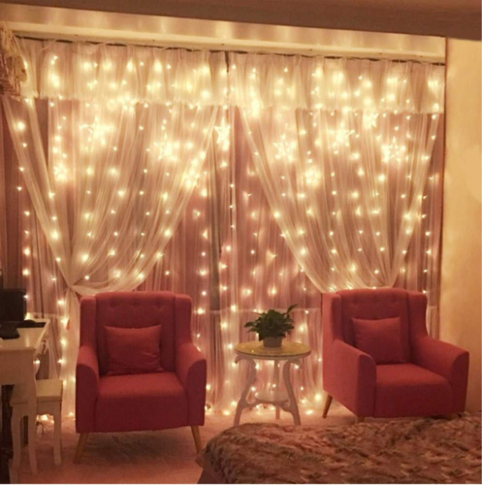 GreenClick Window Curtain String Lights, 32.8ft 480 Leds Fairy String Lights Wedding Party Garden Bedroom Outdoor Indoor Decorations,Waterproof, 8 Lighting Modes, UL Listed Adapter (Warm White) by GreenClick (Image #7)