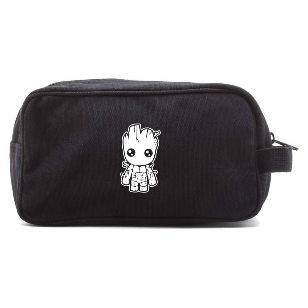 Baby Groot Guardians of the Galaxy Travel Toiletry Bag Case, Black & White