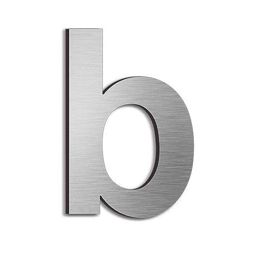 Número de casa - 15 centímetros - acero inoxidable (letra b ...