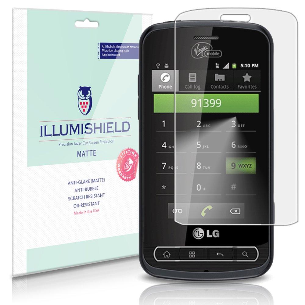 Amazon.com: LG Optimus Zip Screen Protector (LGL75C)[3-Pack], iLLumiShield  - Anti-Glare (Matte) HD Clear Film/Anti-Bubble & Anti-Fingerprint/Japanese  ...