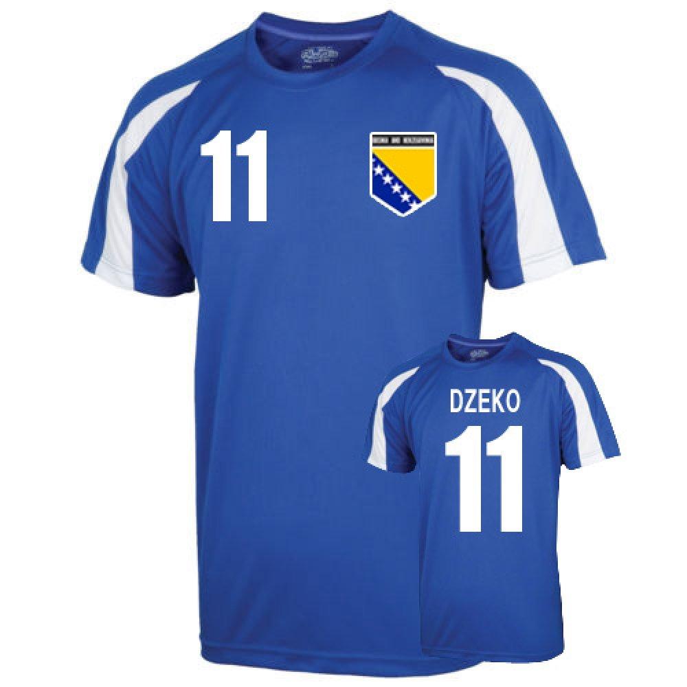 Bosnia Sports Training Jersey (dzeko 11) Kids B00NN5680U MB (7-8 Years) Blue Blue MB (7-8 Years)