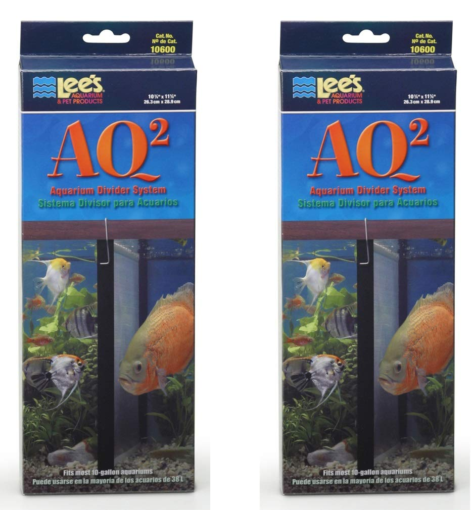 Lee's AQ2 Aquarium Divider System, 10'' x 12'', 2 Pack by Lee's